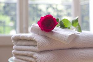 Relax - fiore su asciugamani